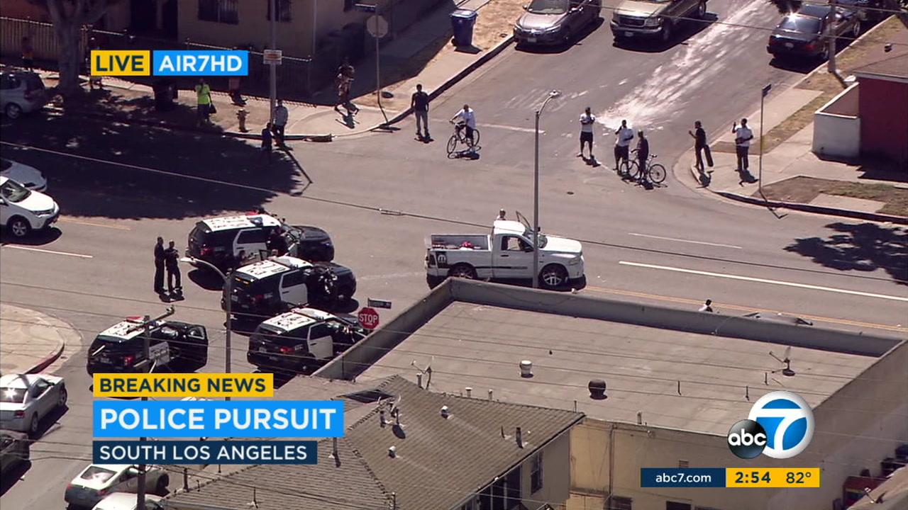 South LA police chase