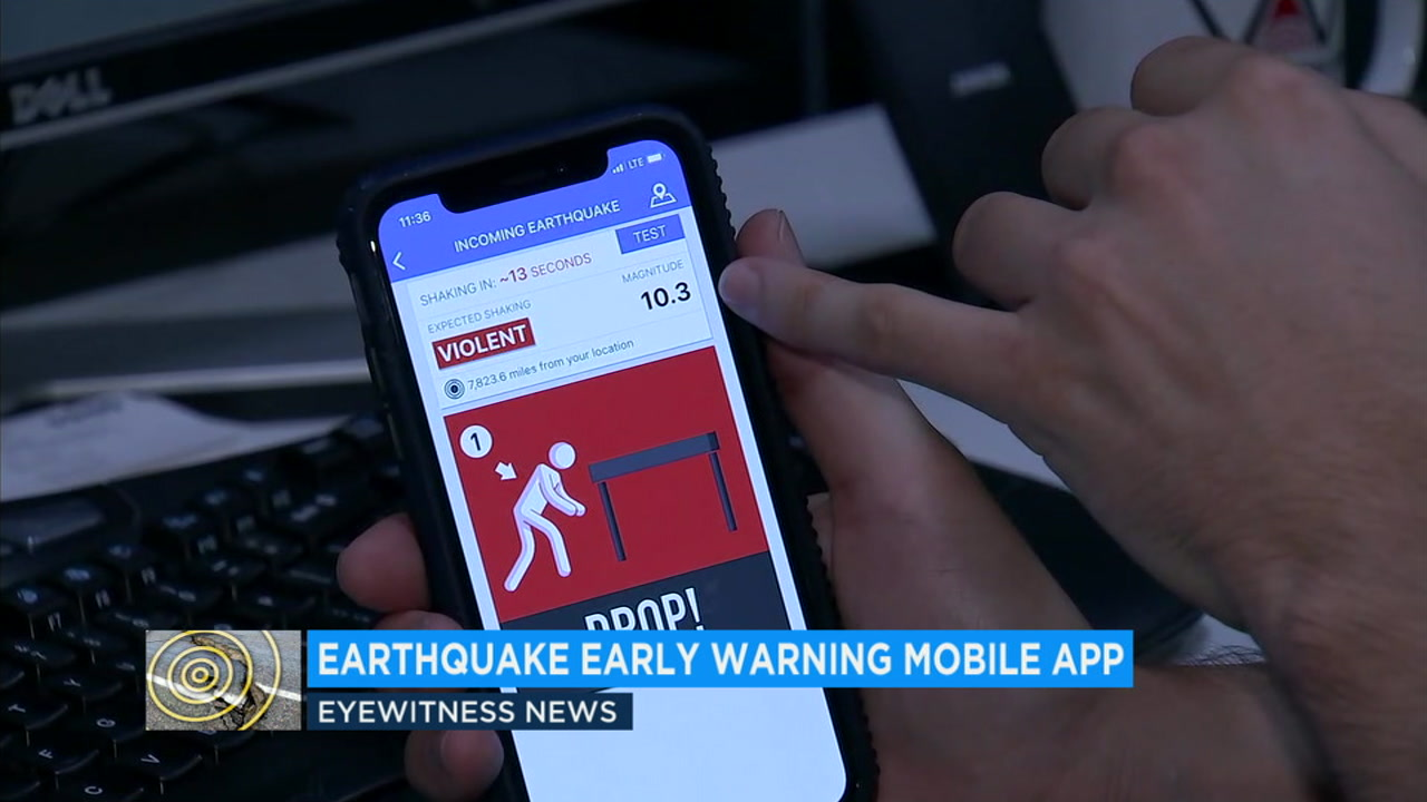 A Santa Monica firm is working on an app that could give the public a few seconds warning before an earthquake hits.