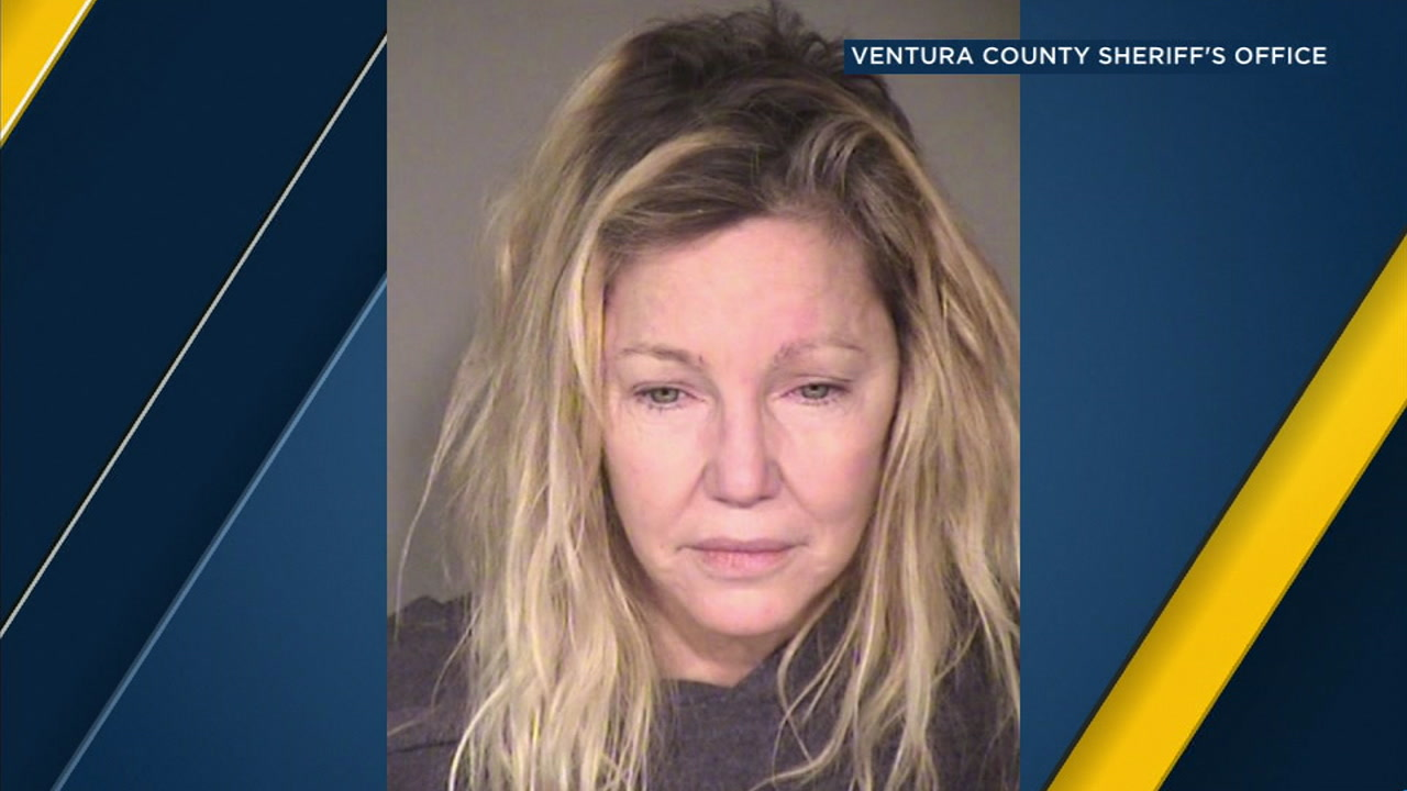 Actress Heather Locklear is shown in a mugshot from an arrest where she is suspected of punching a sheriffs deputy and kicking an EMT in Thousand Oaks.