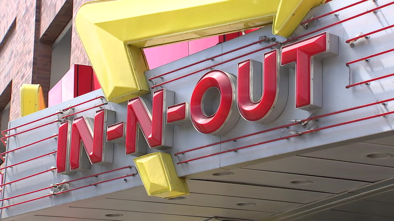 An undated photo of an In-N-Out sign.