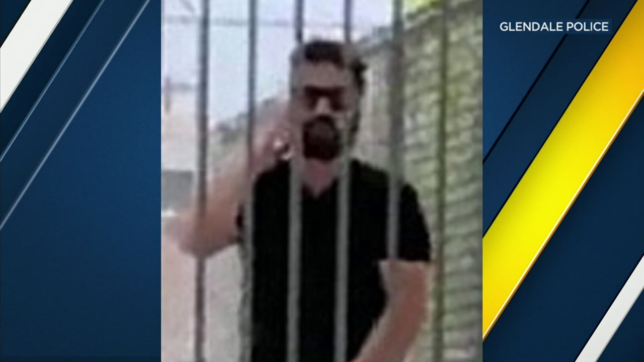 A man appears to touch himself while outside a Glendale Park on Aug. 17, 2018.