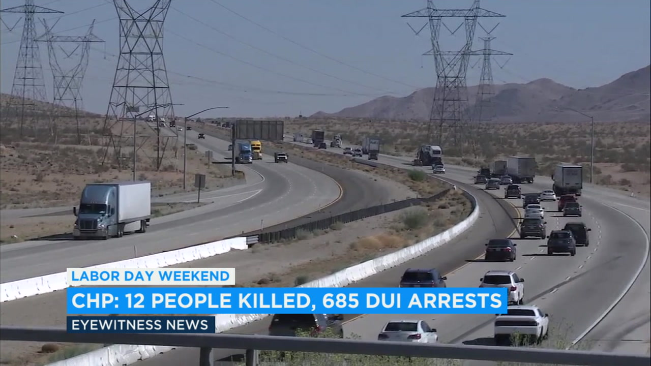 Since the holiday weekend began Friday, 10 motorists and two pedestrians have died on California roads and 700 people have been arrested for DUI.