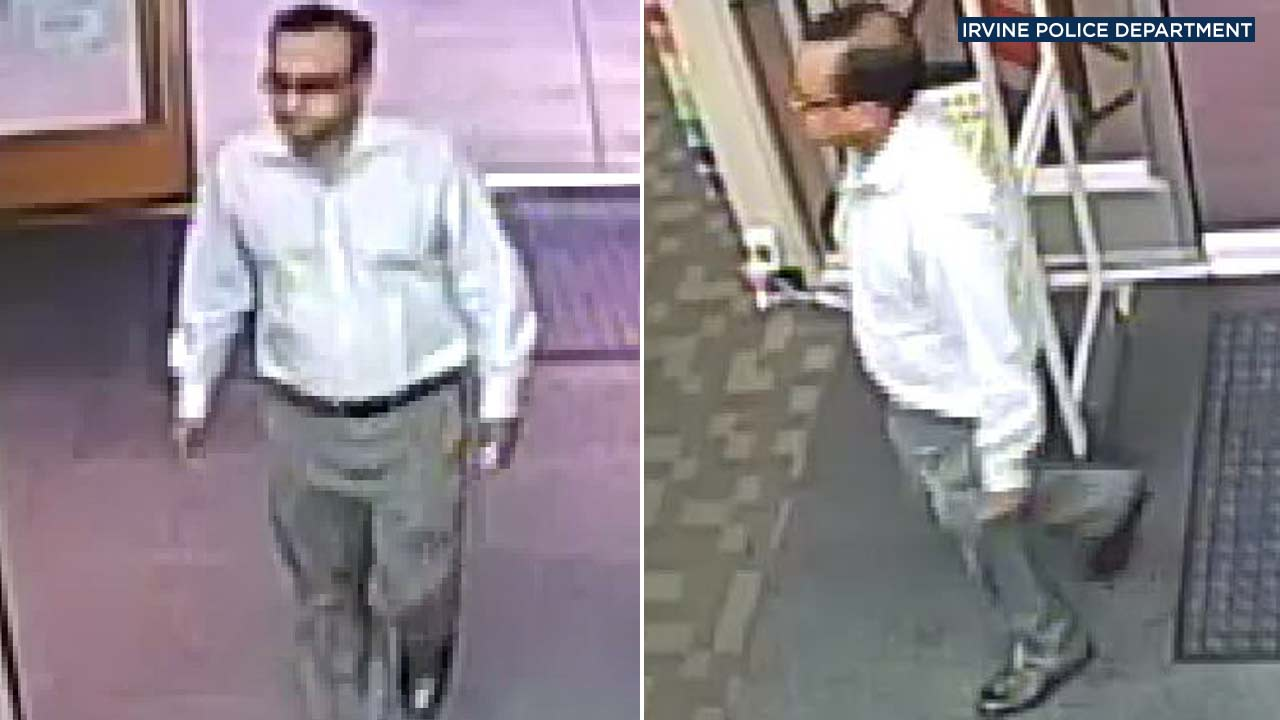 Irvine police released these images of a man accused of groping a 13-year-old girl at an Office Max store in Irvine on Aug. 14, 2018.