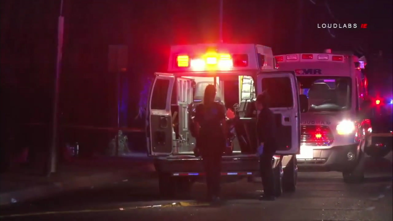 Eight people were injured after gunfire erupted at an apartment complex in San Bernardino recently.