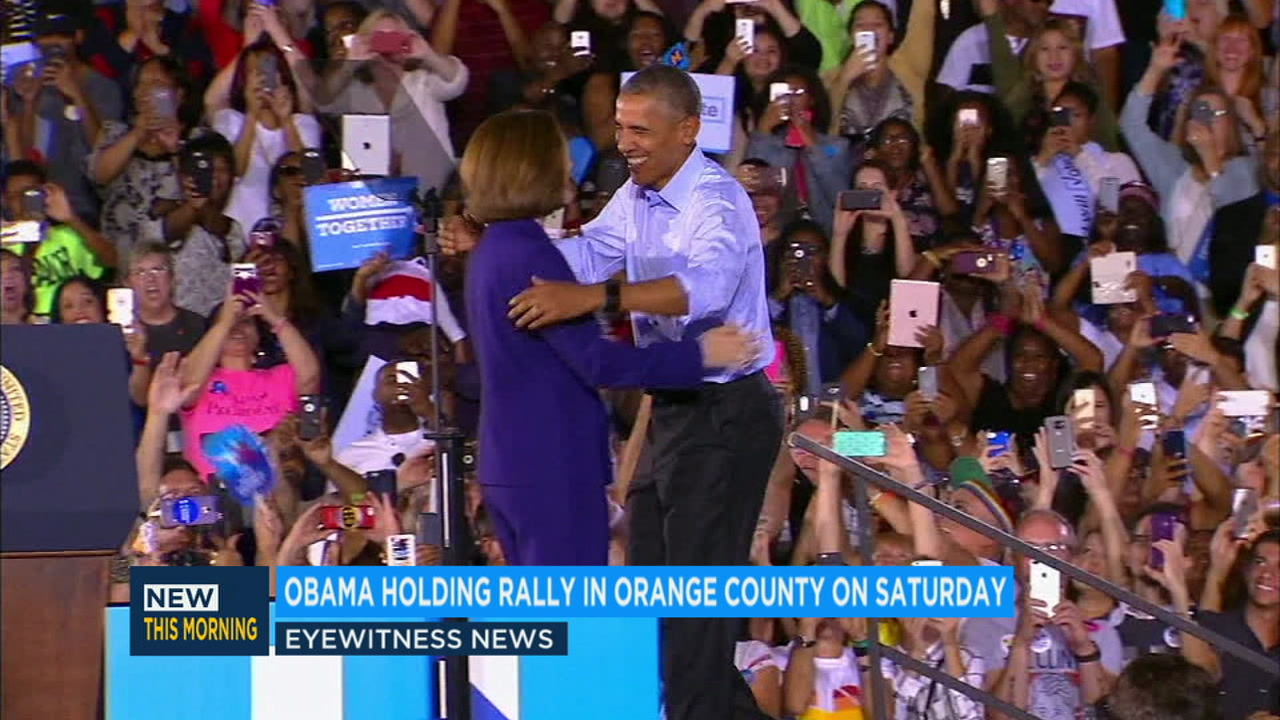 Former president Barack Obama will hold a rally in Orange County on Saturday to help boost support for Democratic candidates in key house races.