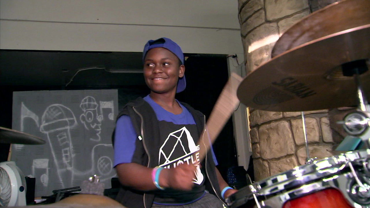 It is hard to miss Micah Heard and his smile when he is playing in the jazz band at Fernando Pullum Community Arts Center in Los Angeles.
