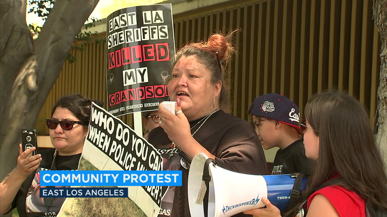 The mother of a 21-year-old man who was killed in a deputy-involved shooting staged a demonstration in East LA Saturday.