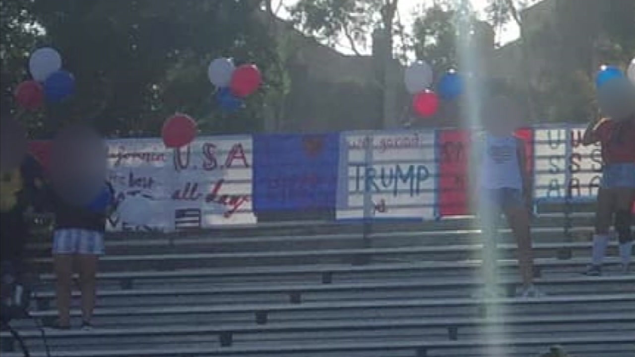The principal of Santa Ana High School said some patriotic signs and chants at Aliso Niguel High School were racist in tone.