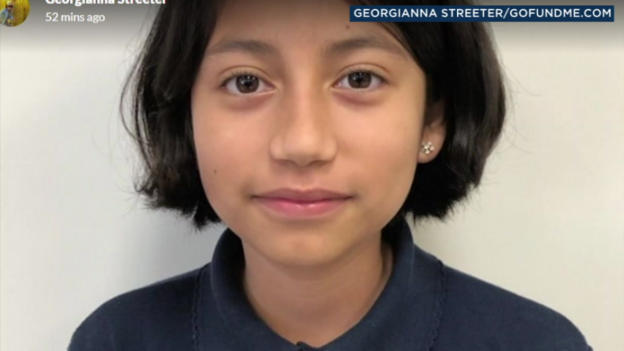Alexa Alarcon, 10, is shown in an undated photo on a GoFundMe account set up for her.