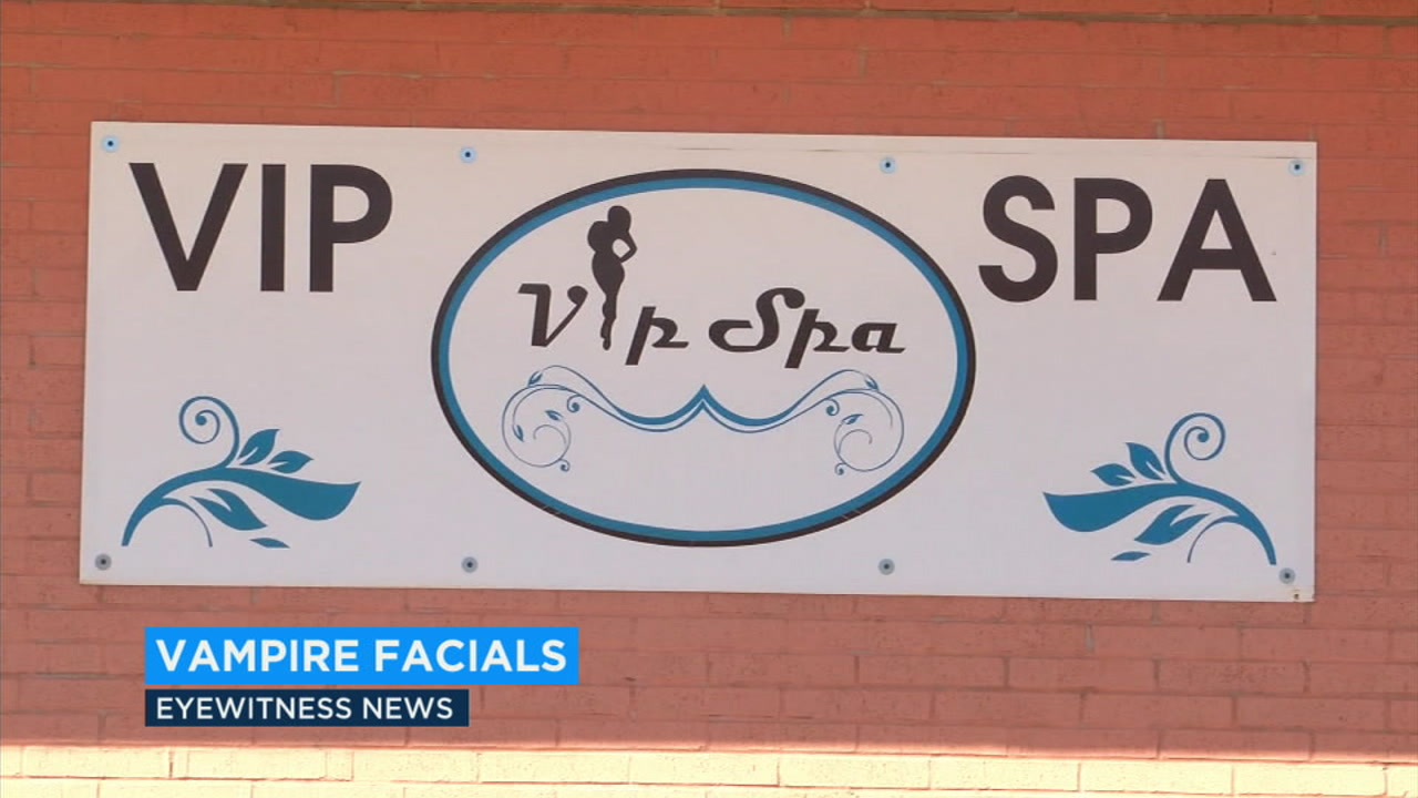 A vampire facial in which a patients blood is drawn and then re-applied to their own face could be responsible for infections at a New Mexico spa.