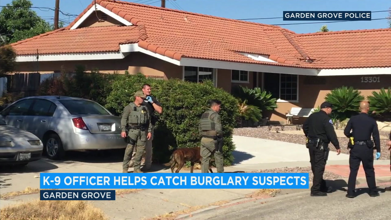 An Orange County sheriffs K-9 helped catch two burglary suspects who had broken into a home in Garden Grove, officials said.