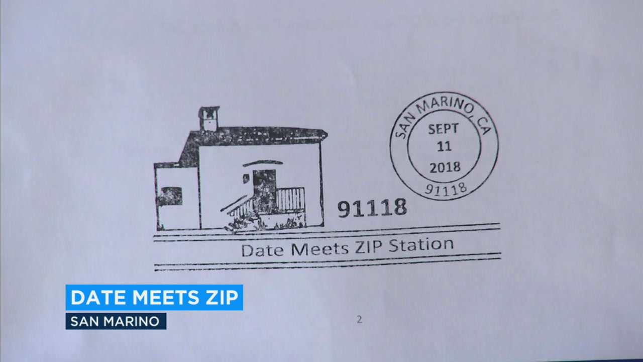 A commemorative stamp showing the date meets ZIP for San Marino on 9/11/18 is shown.