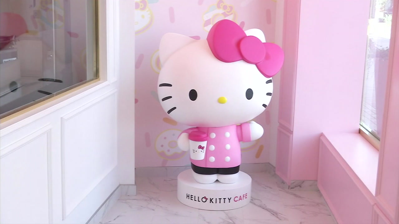 The Hello Kitty Grand Cafe will open at the Irvine Spectrum center on Friday.