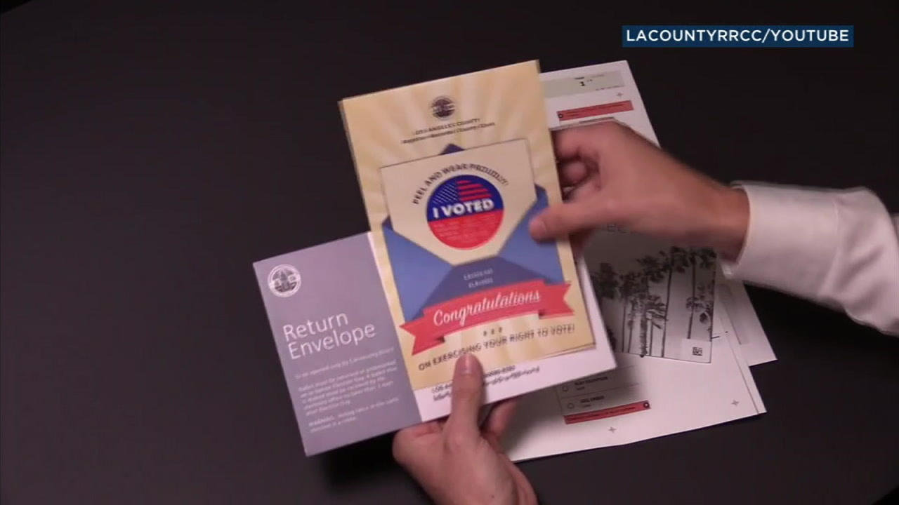 People voting by mail in Los Angeles County will receive a different looking ballot for the upcoming general election.