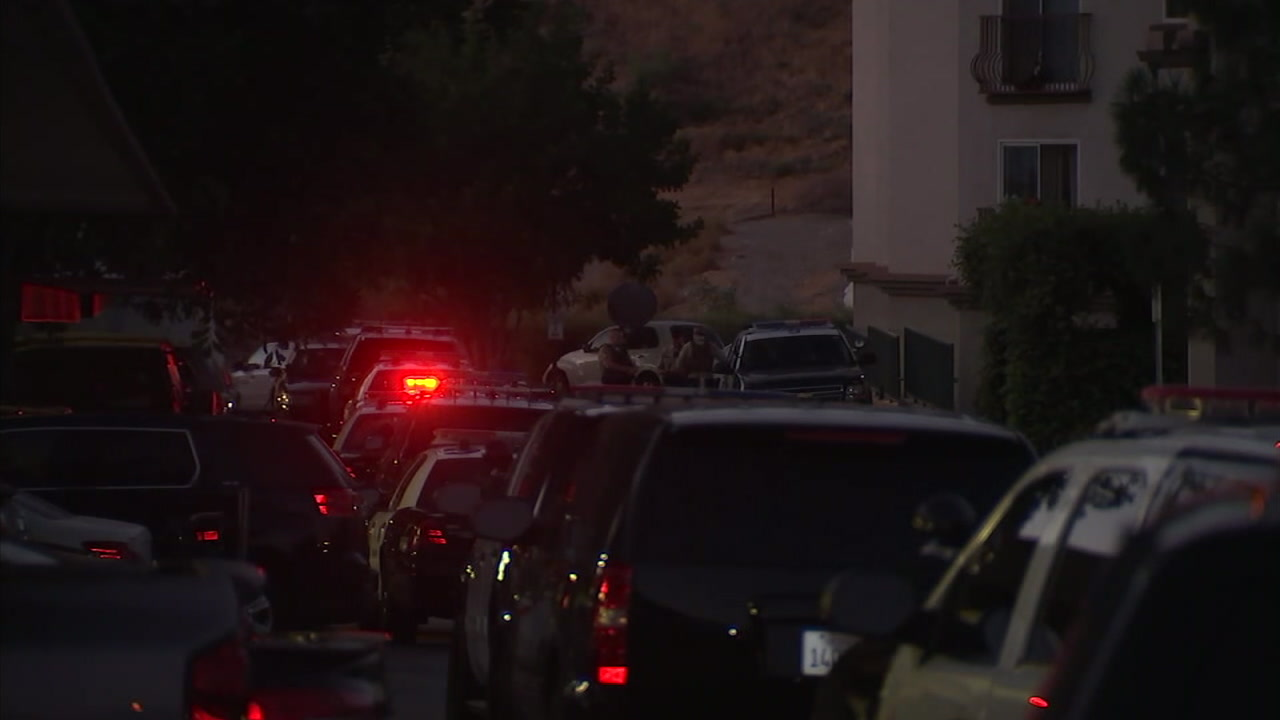 Authorities surround a senior living center in Castaic after a woman barricaded herself inside her unit for hours.