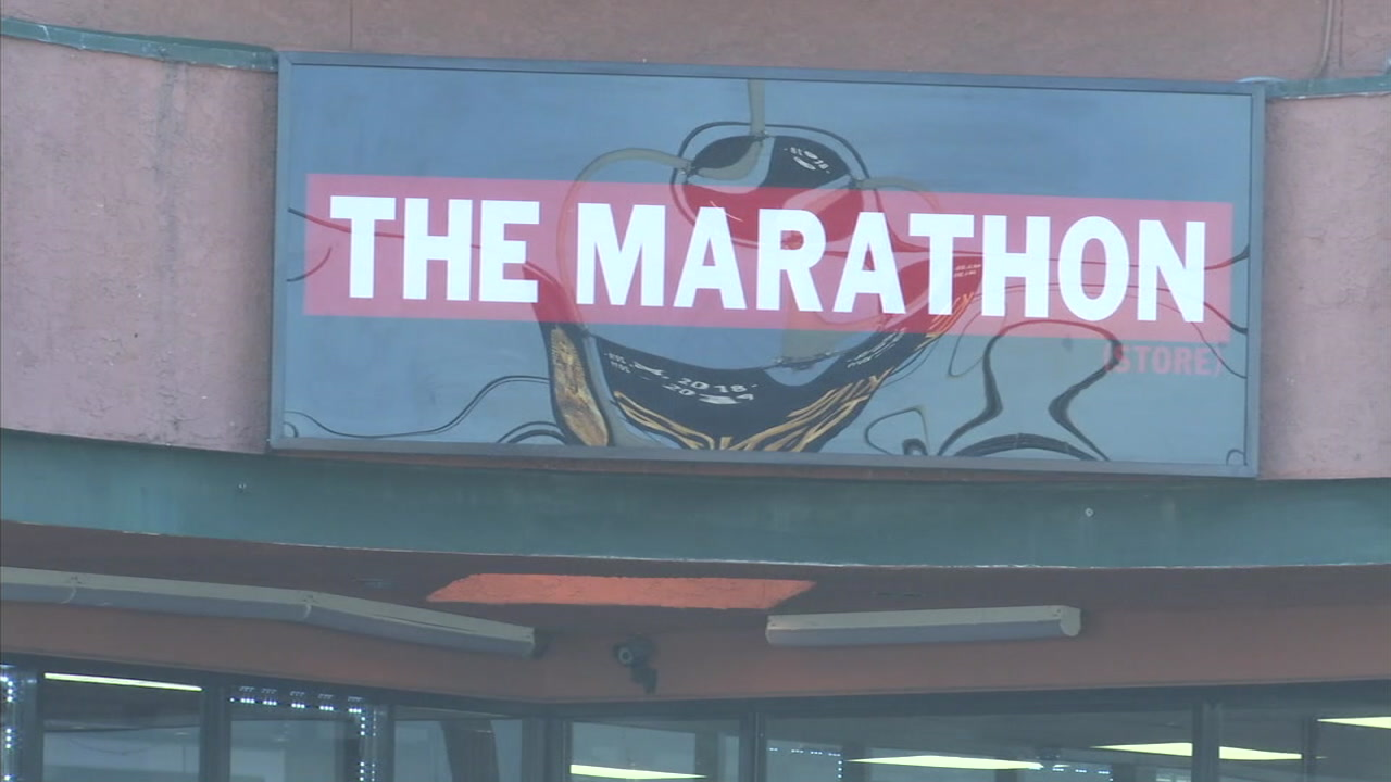 The Marathon, a clothing store owned by rapper Nipsey Hussle, is shown in a photo.