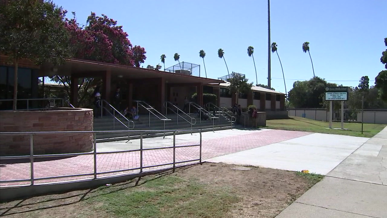 Dexter Middle School in Whittier, California is seen in this photo.