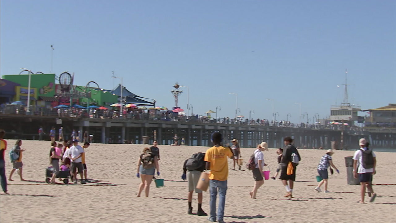 Volunteers took to the beaches Saturday for Coastal Cleanup Day in Santa Monica.