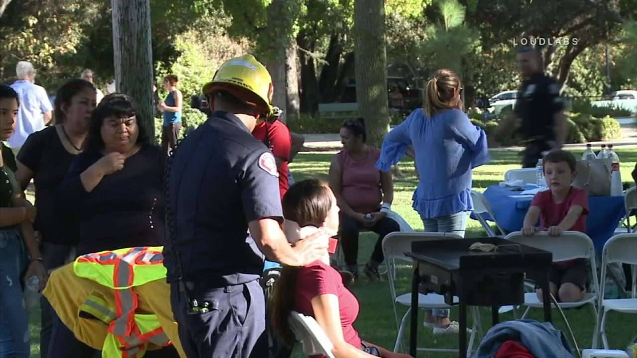 A girl suffered a broken collarbone during a birthday celebration at park in Glendale on Sept. 17, 2018.