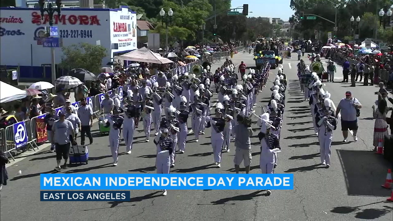 Thousands of people lined the streets of East Los Angeles to celebrate Mexican Independence Day on Sunday.