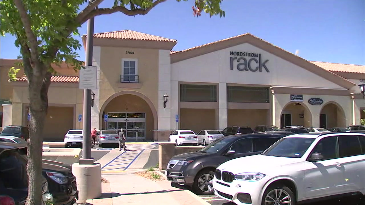 A storefront of a Nordstrom Rack in Valencia is seen in this photo.