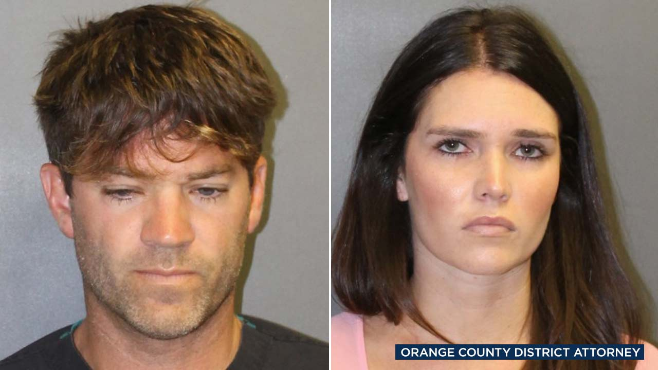 Photos show co-defendants 31-year-old Cerissa Laura Riley and Orange County surgeon Grant William Robicheaux,38, who are accused of teaming up to prey on women.