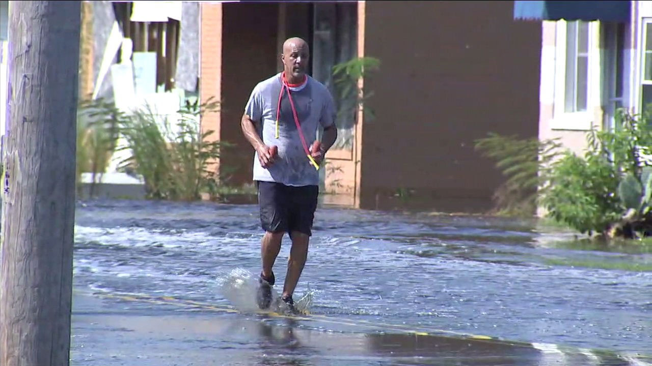 After Hurricane Matthew severely damaged his mothers home, Darnell Dempsey runs to his mothers home to assess damage done to it in the aftermath of Florence.
