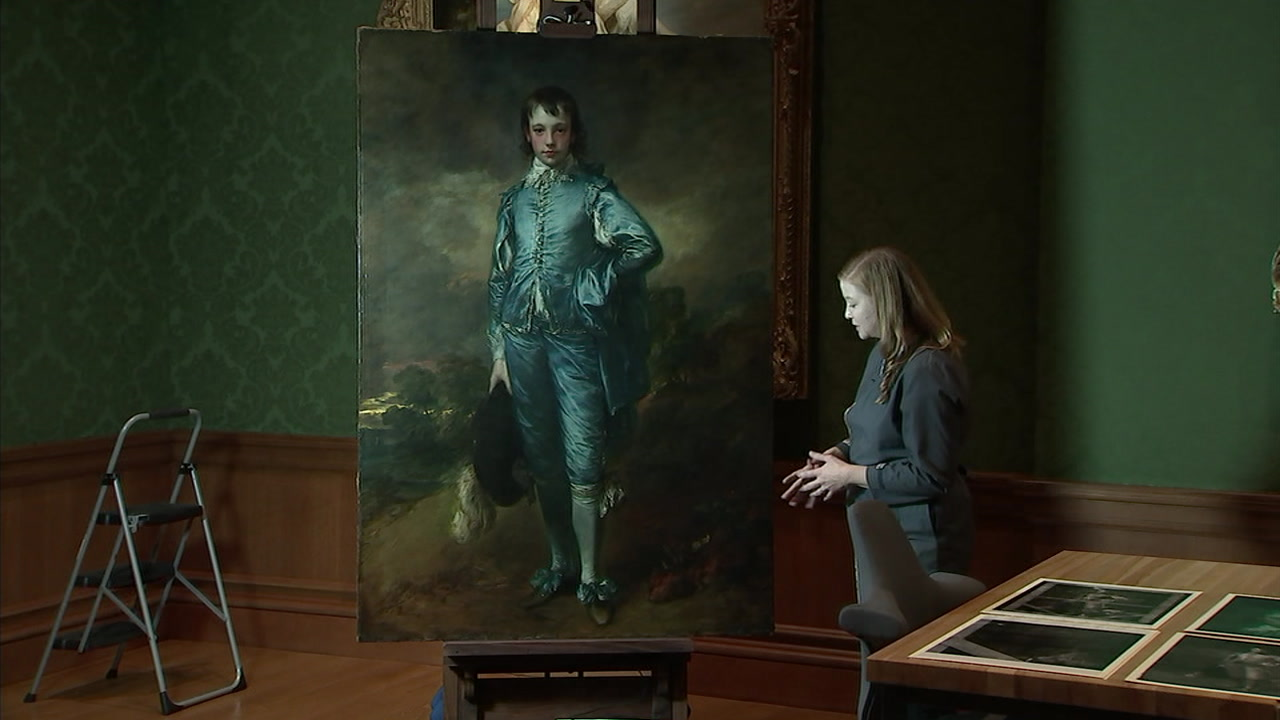 The Blue Boy, made around 1770 by Thomas Gainsborough, is pictured at the Huntington Library, Art Collections and Botanical Gardens.