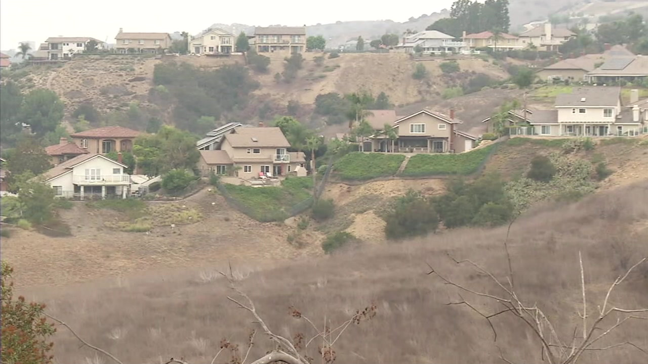 An area in Orange County where the Esperanza Hills project is expected to be built if the plan is passed.