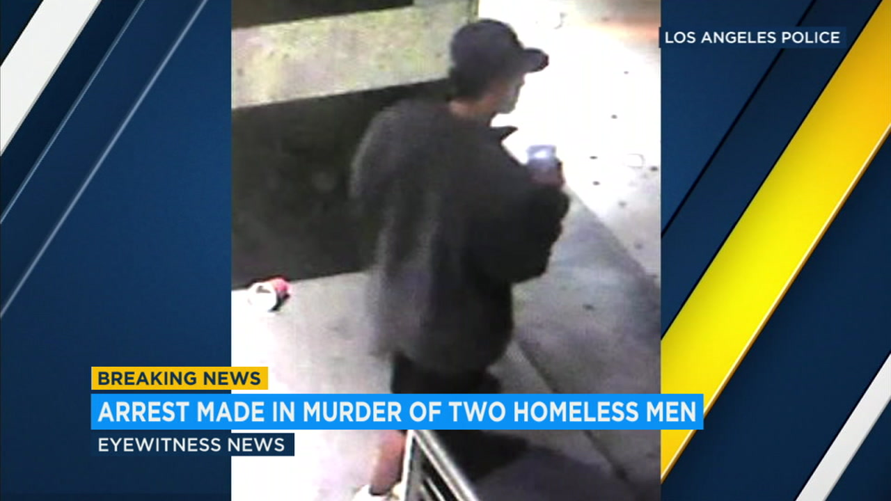 Surveillance video shows a suspect believed to be responsible for the brutal murders of at least two homeless in Southern California.