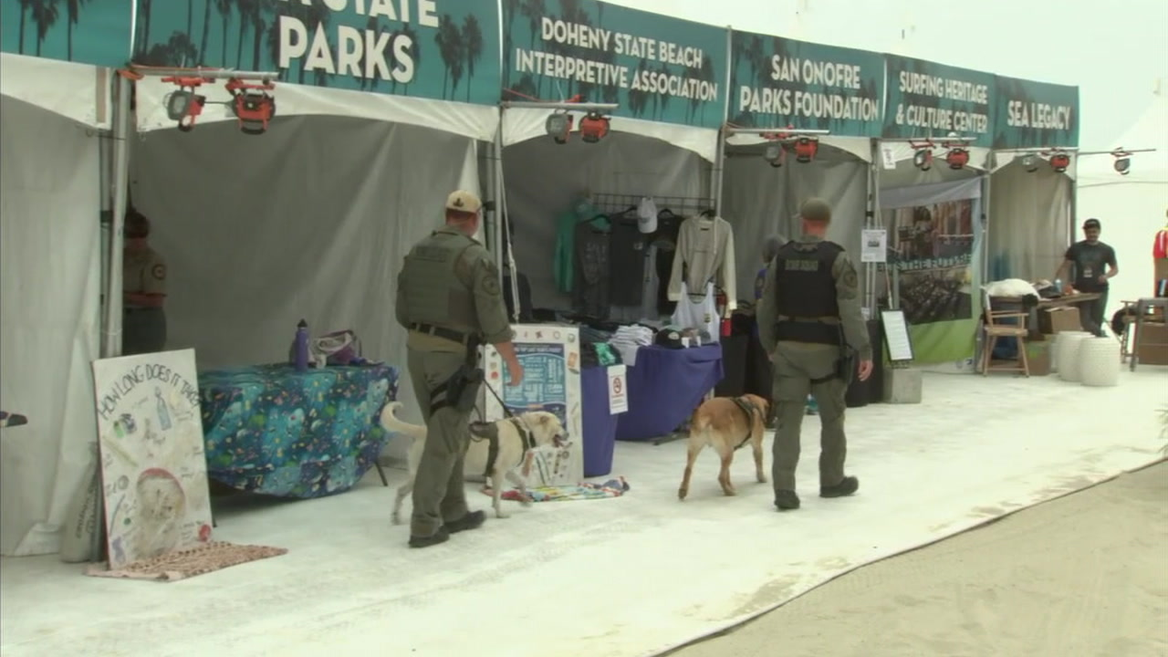 Increase security is seen at the annual Ohana Music Festival in Dana Point on Friday, Sept. 28, 2018.