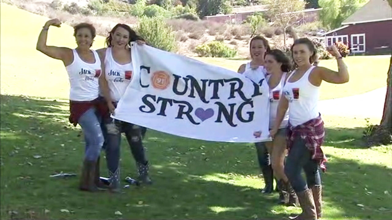 Survivors of the Las Vegas mass shooting attend a Jason Aldean concert one year after the massacre.