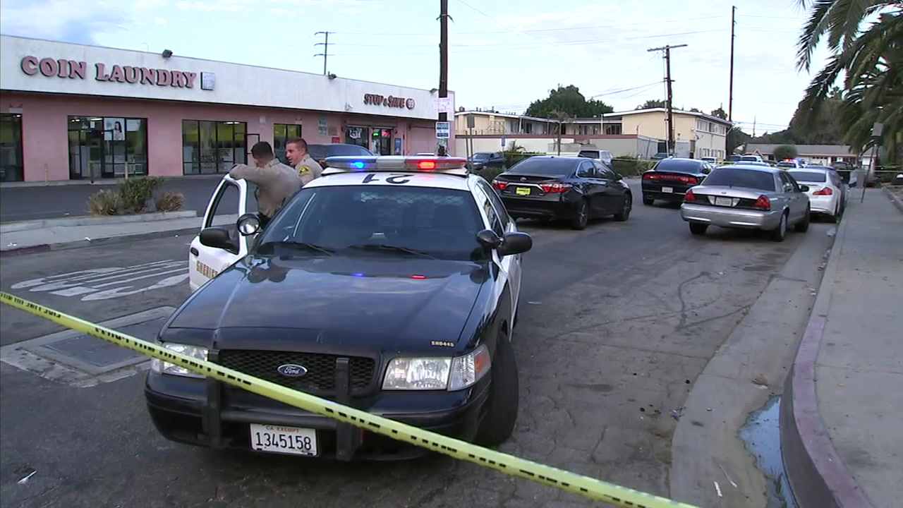 The scene of one of multiple shootings in Compton on Sunday, Sept. 30, 2018.