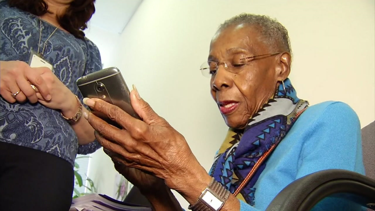 Inez Vanable, 90, is part of a study looking at whether smartphones can help senior citizens keep their minds sharp.