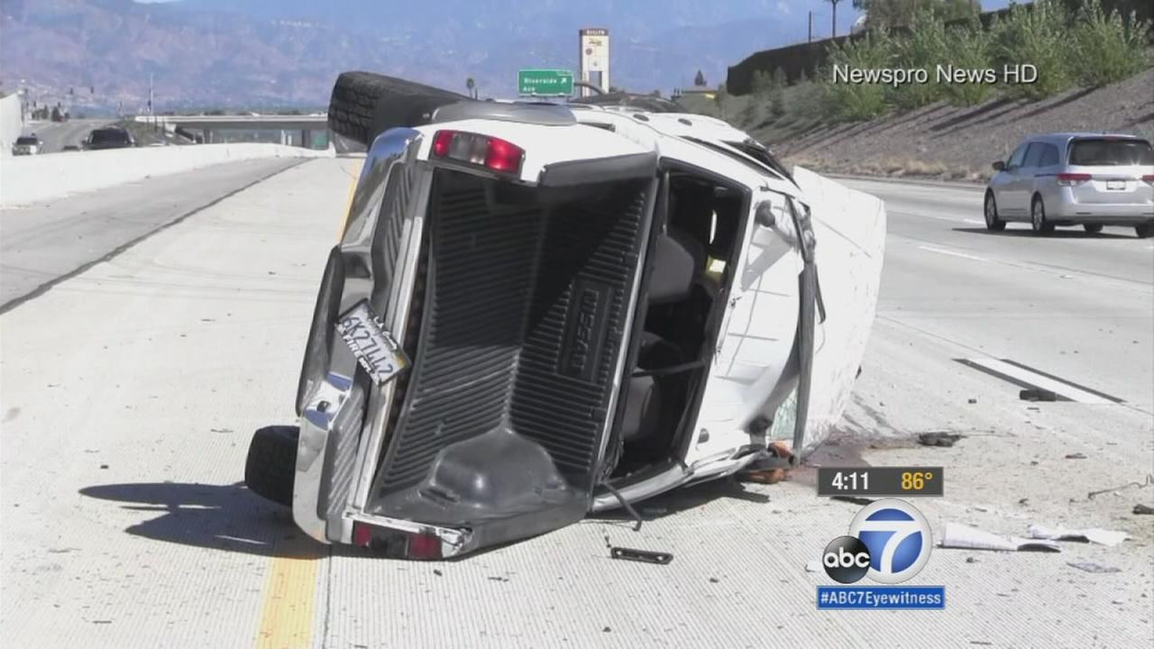 911 call released in 210 Freeway freak accident