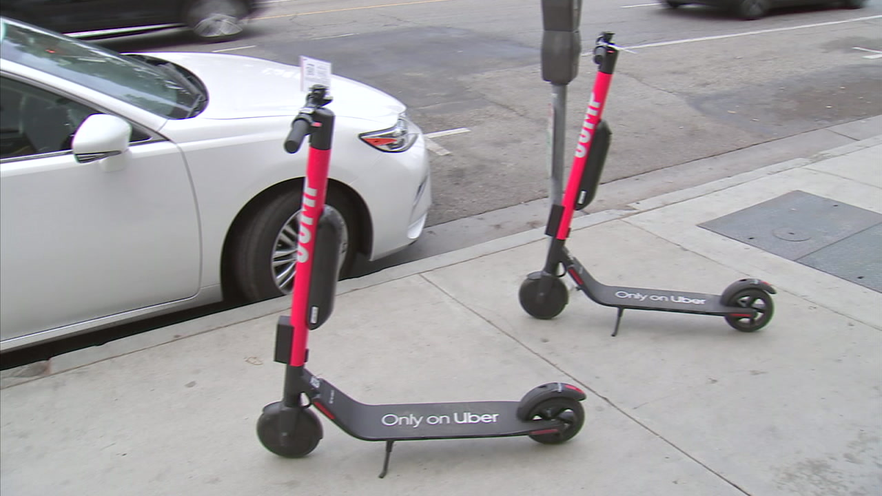 Uber has made JUMP scooters available in Santa Monica through its popular app.