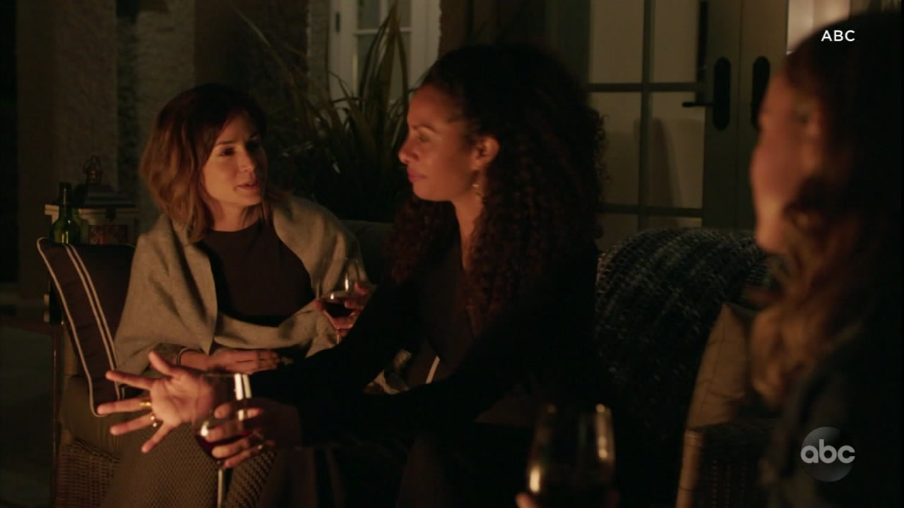 Some of the women starring in A Million Little Things are shown in a scene from the first episode.