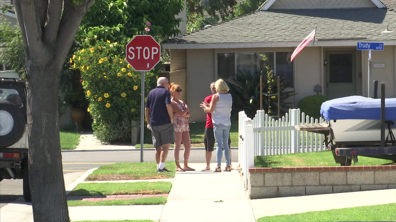 Residents in a Huntington Beach neighborhood are seen in this undated image.