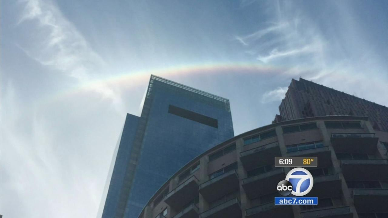 It is an oddity, but thousands have been talking about it: Rainbows were frequently spotted throughout Pope Francis visit.