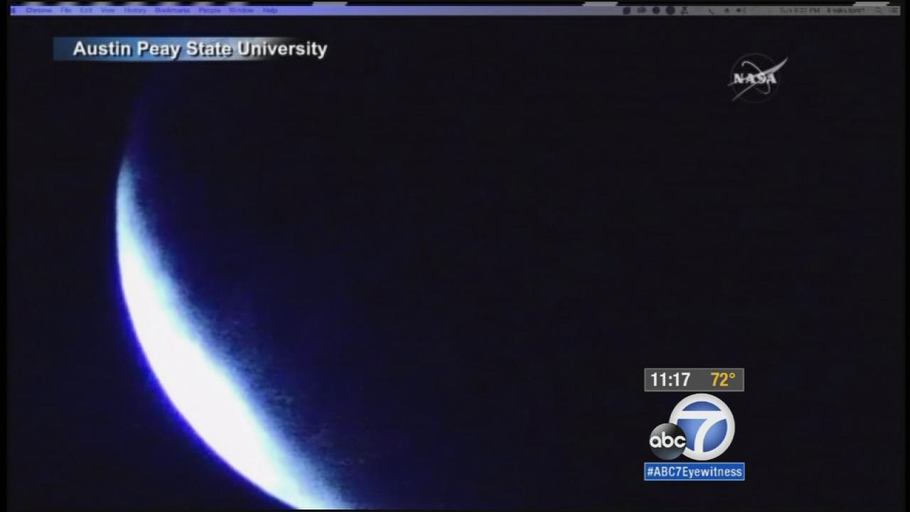 A rare supermoon eclipse hit Southern California Sunday night, Sept. 27,2015.