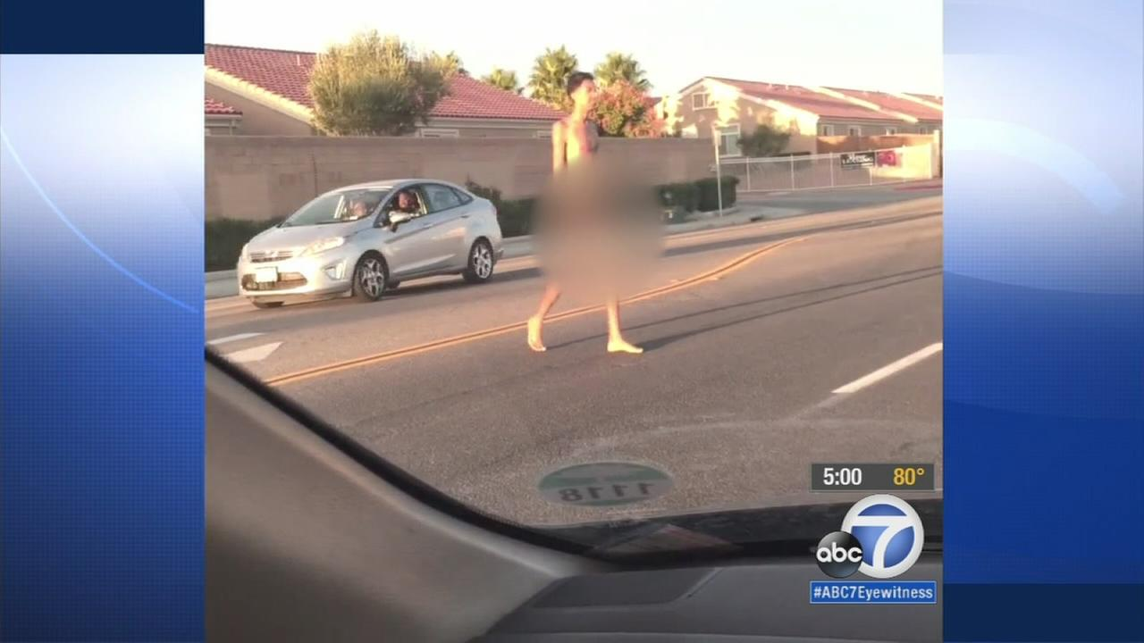 Naked man arrested after Victorville neighborhood terrorized