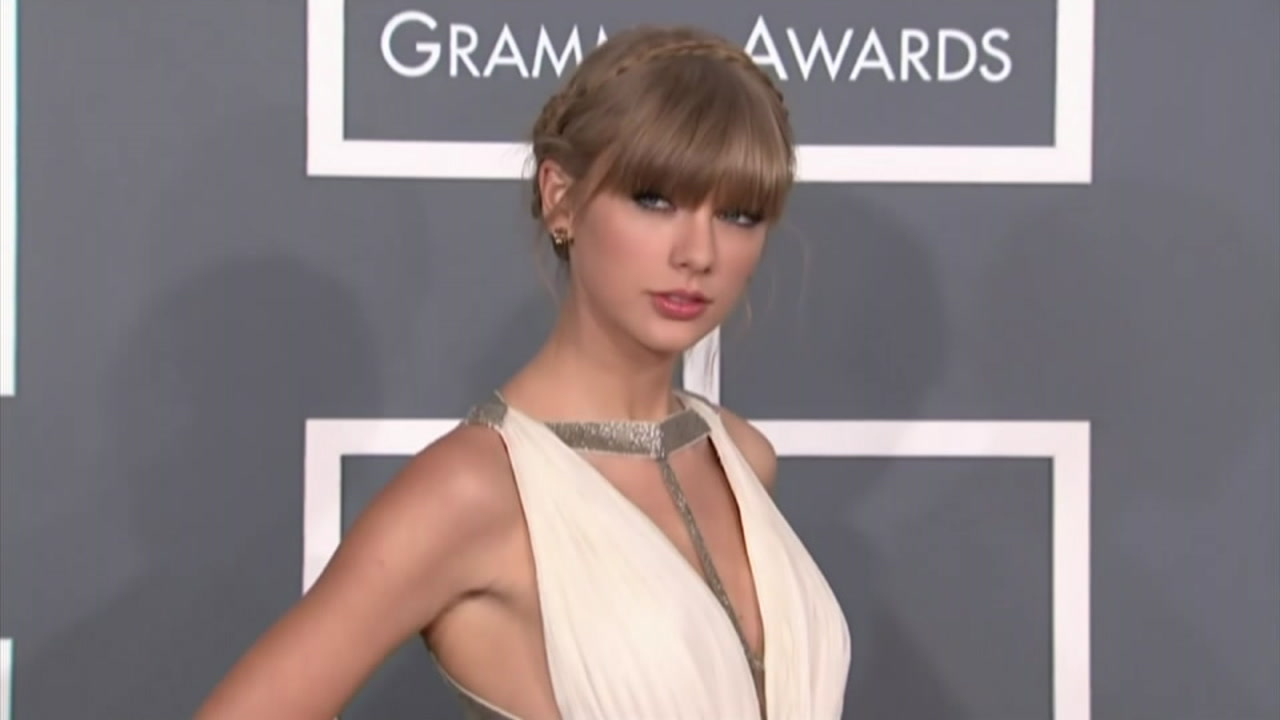 Taylor Swift is shown in a file photo from one of her red carpet appearances.