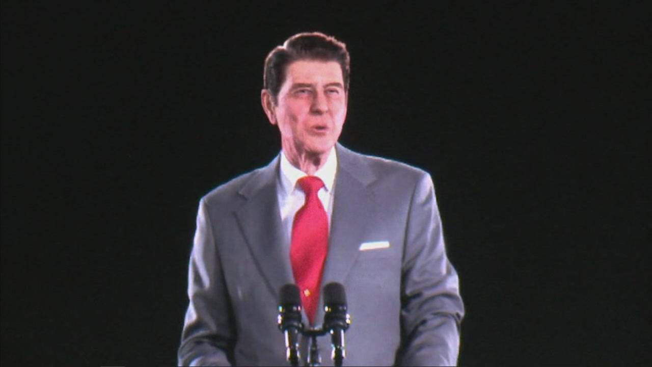 A new exhibit at the Ronald Reagan Presidential Library in Simi Valley has brought the late president back to life through a hologram.