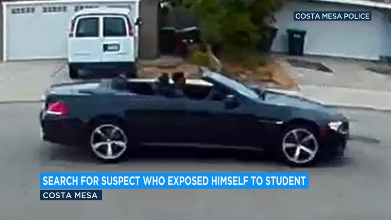 Costa Mesa police need the publics help identifying a man who exposed himself to a high school student.