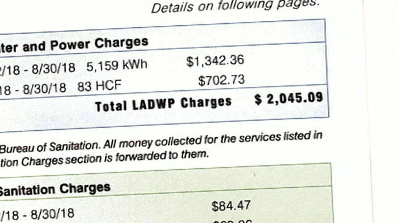 An LADWP customers bill.