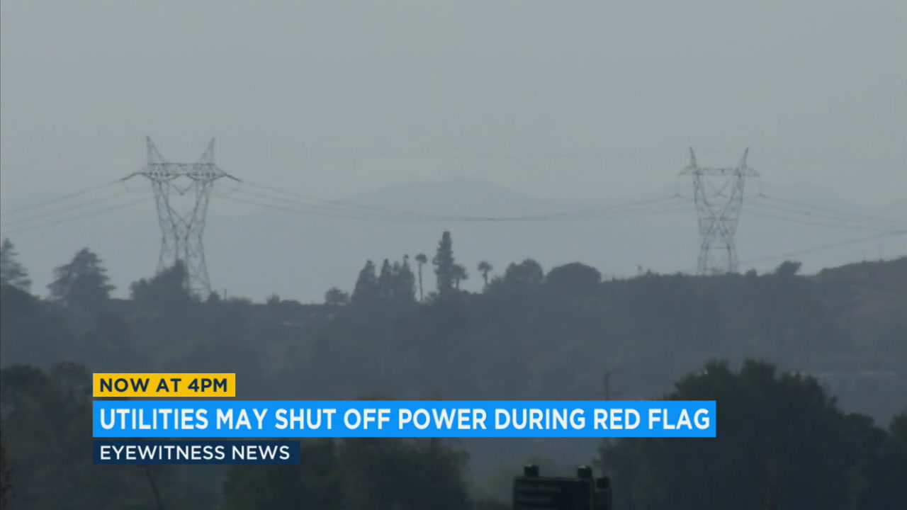 With powerful Santa Ana winds blowing into SoCal, Edison is looking at shutting off power in areas where fires could be sparked by downed power poles.