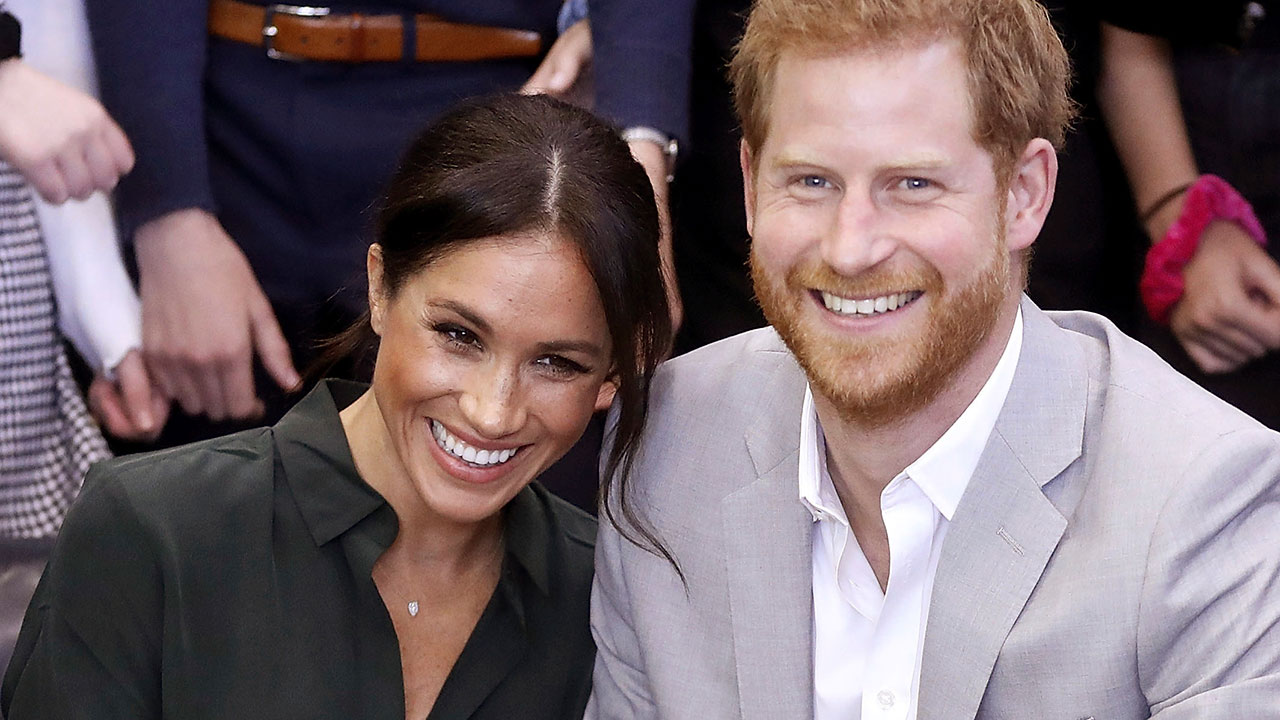In this file photo dated Wednesday Oct. 3, 2018, Meghan, Duchess of Sussex and Britains Prince Harry, make an official visit to the Joff Youth Centre in Peacehaven, Britain.