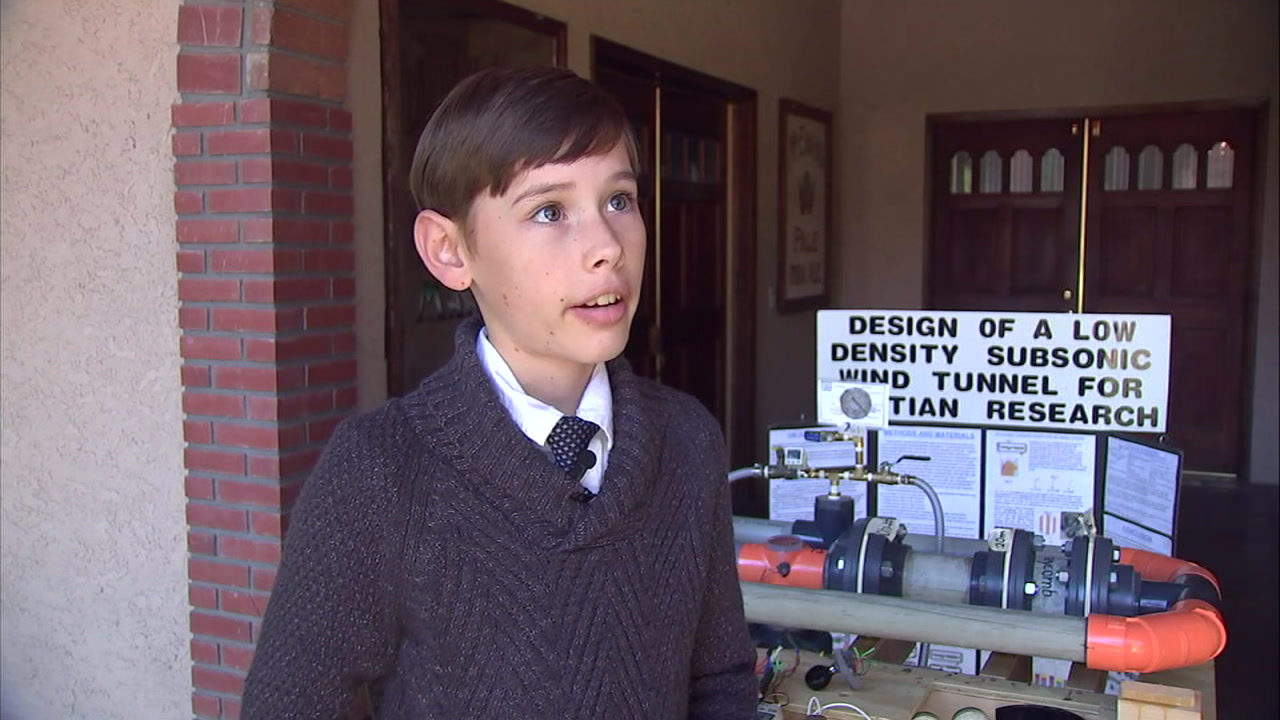 James Fagan is still a pre-teen but is already working toward his future. He hopes to one day hop on a mission to Mars.