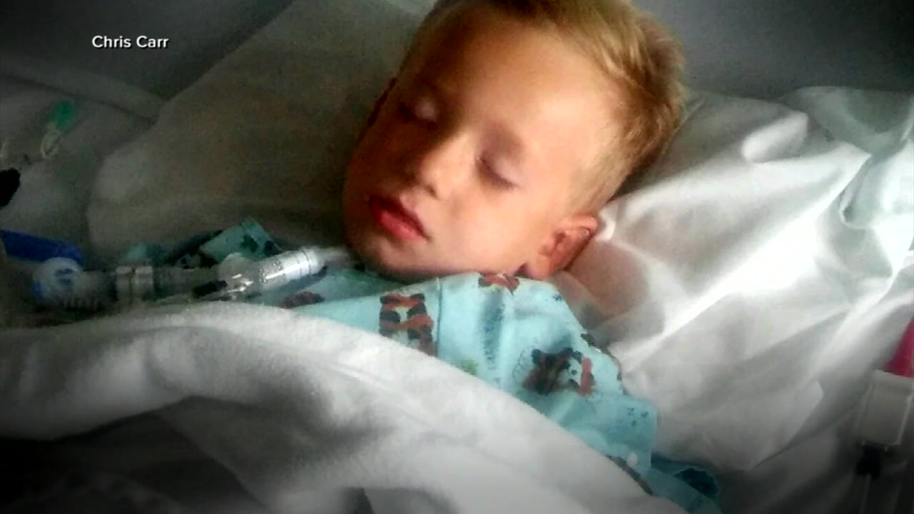 A child is seen sick from Acute flaccid myelitis, or AFM.