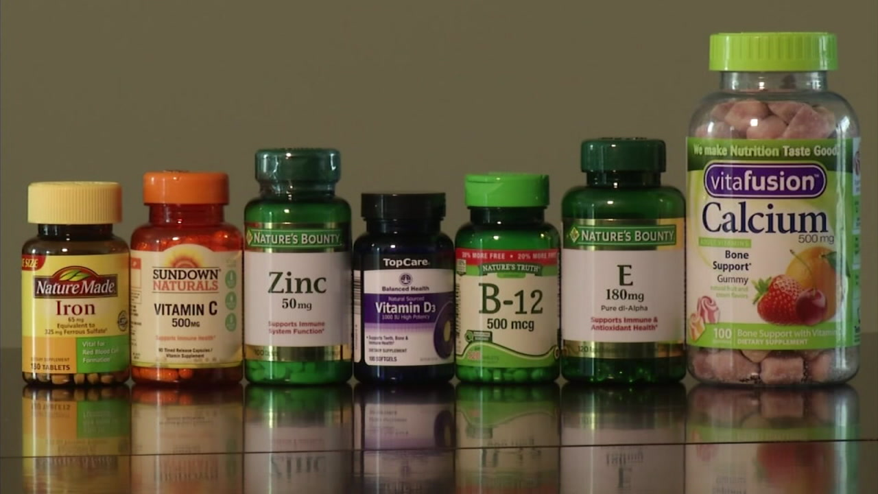 A variety of vitamins are showcased in this undated image.